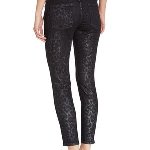 Current/Elliott Jeans - Current/Elliott Stiletto Highland Leopard Jeans